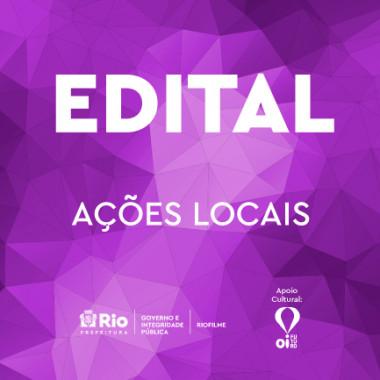 EDITAL DE APOIO À AÇÕES LOCAIS
