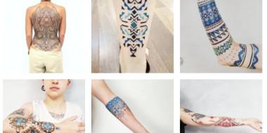 Brasileiro se inspira na geometria da arte indígena para criar tatuagens