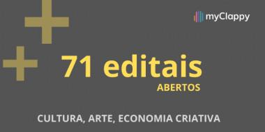 91 Editais Abertos nas áreas de Teatro, Audiovisual, Artes Plásticas e Cultura em Geral em todo o Brasil